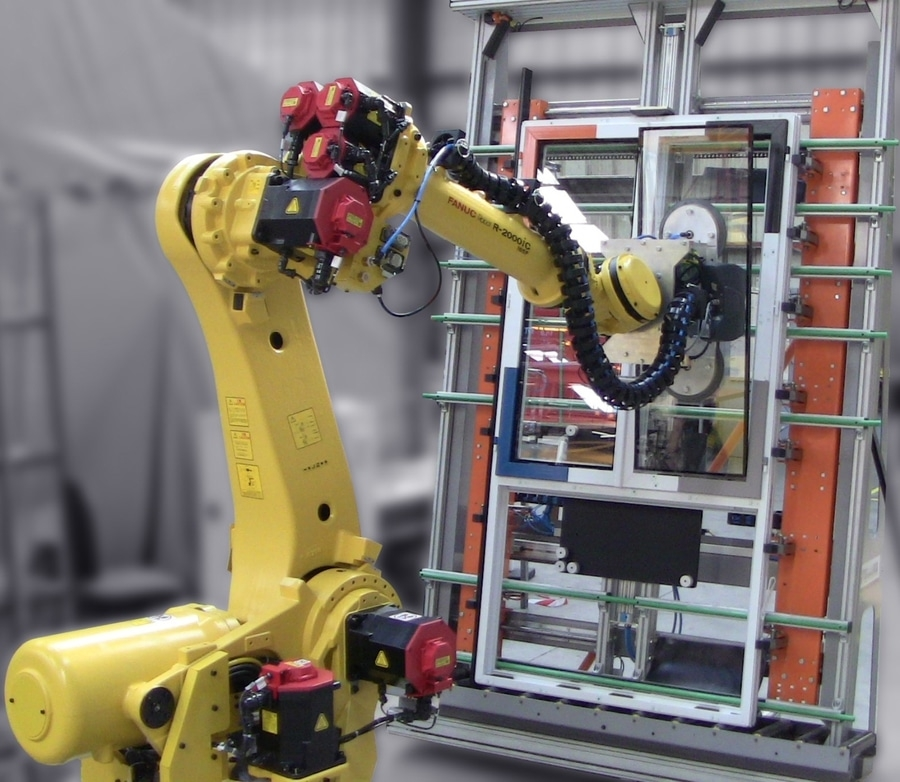 robot szklący tecauma