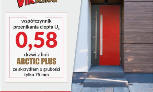 VIKKING: Nowy rekord energooszczędności -najcieplejsze drzwi zewnętrzne