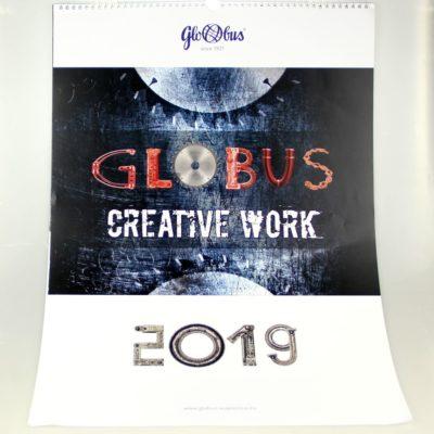 Kalendarz ścienny: Globus