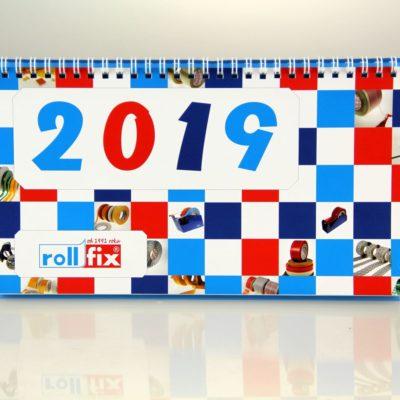 Kalendarz biurkowy: Rollfix