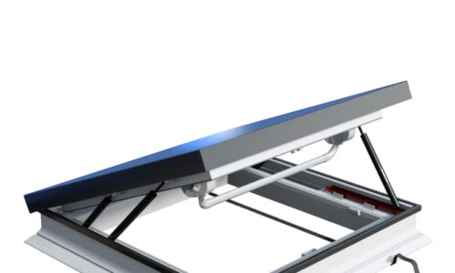 Okpol: okno dodachów płaskich otwierane manualnie