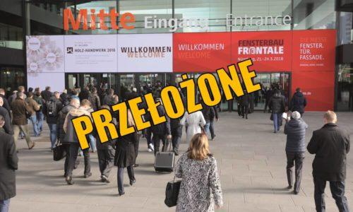Fensterbau Frontale 2020 przełożone!