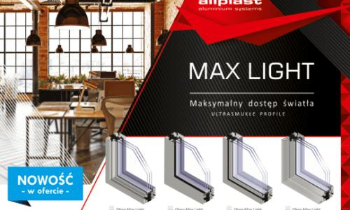 MaxLight – nowość wofercie systemów okiennych