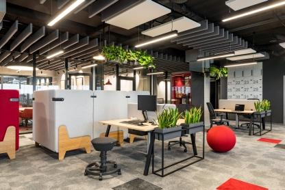 Nowoczesne wnętrza biurowe z przeszkleniami