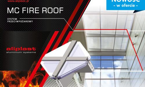 Przeciwpożarowe świetliki dachowe Mc Fire Roof