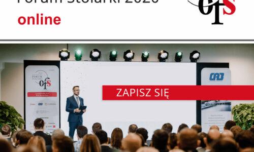 Już jutro Ogólnopolskie Forum Stolarki 2020 Online – zarejestruj się!