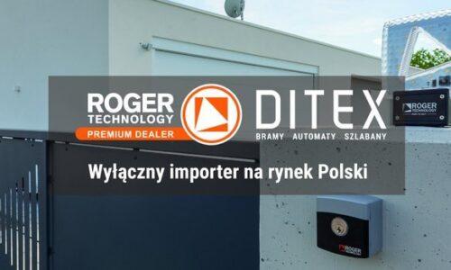 Ditex wyłącznym importerem Roger Technology w Polsce