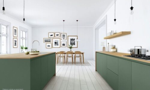Jak urządzić kuchnię w drewnie i kolorze ?